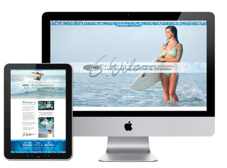 Kinetic Surf Boards Website