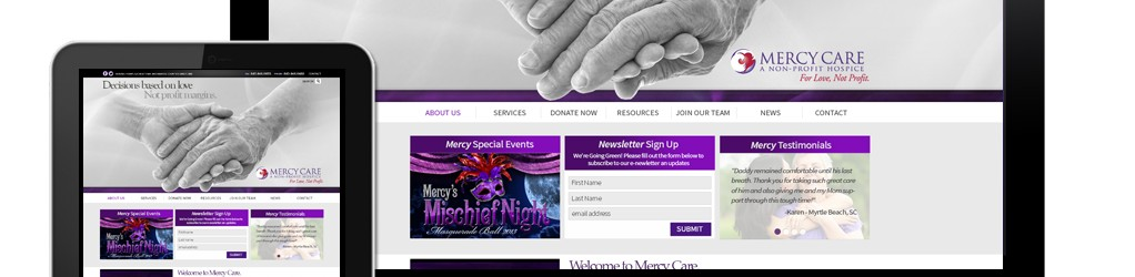 Mercy Care Hospice Website